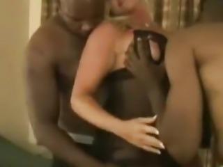 Beautiful swinger wife slut creampied by black men