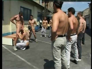 public Gangbang with two bitches
