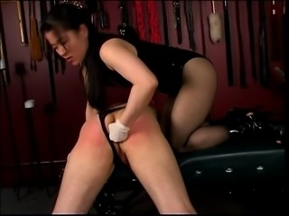 Cute slut ass fondles her slave