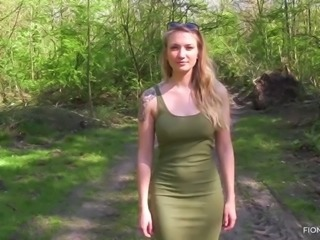Amazing fiona fuchs gets fucked in the forest pov