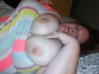 Curvy 30 year old wife shows her DDD'S.