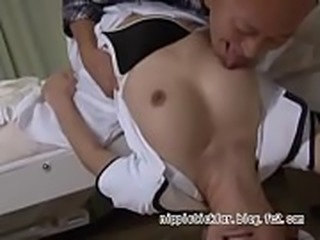 Perverted father committing nursing trainee : http://nippletickler.blog.fc2.com/