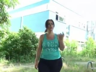 GERMAN SCOUT - BIG ASS BBW MATURE MOM TALK TO FUCK AT STREET CASTING