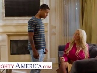 Naughty America - MILF fucks sons bully in exchange for his protection
