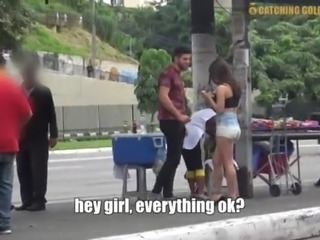 Showing No Mercy To A Brazilian Gold Digger Teen