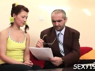 Hotty is offering her cum-hole for teacher's lusty enjoyment