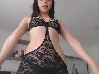 Dancing with this sexy lingerie