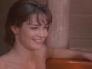 Jennifer Burton and Monique Parent in threesome in bath