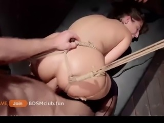Anal Slut Suffer and Squirt in BDSM Party