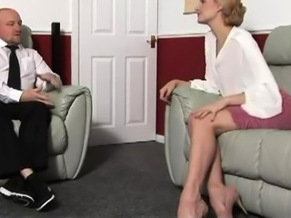 Naughty blonde milf getting her marvelous ass spanked hard
