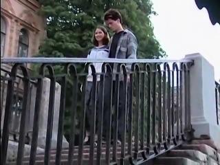 Hot Russian teen anally drilled by her boyfriend in public