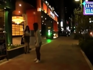 Pretty Japanese babe enjoying her first lesbian experience