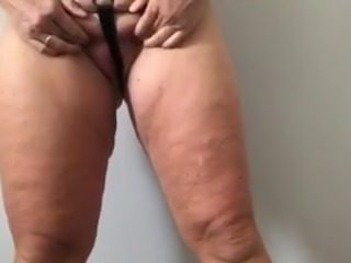 Submissive married whore in stupid micro string