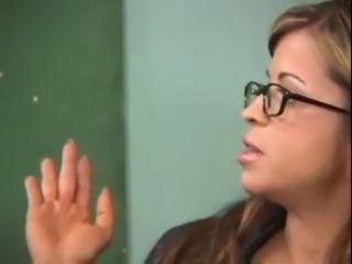 Lisa Moneli - Teacher fucked by two Students