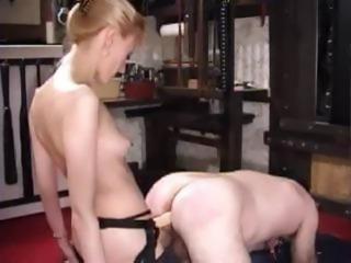 Mistress Karin Fisting Her Male Slave