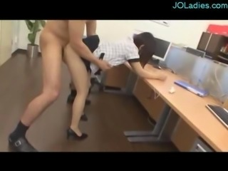 Office Lady In Pantyhose Fucked Hard Getting Creampie On The Desk In The Office