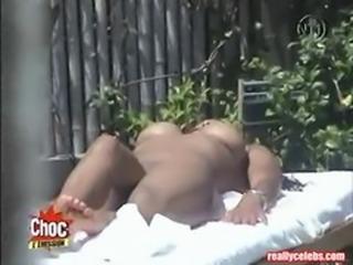 Janet Jackson Nude Sunbathing Video