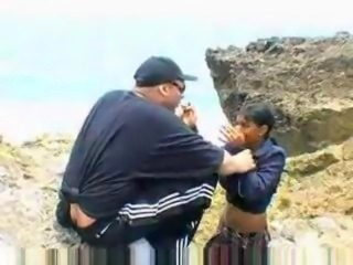 Big Titty Mexican Gives Blowjob Oudoor In Beach
