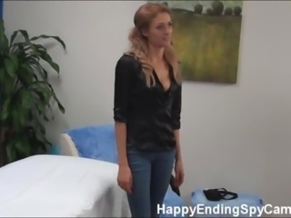 Shy Massage Girl Seduces Client and Gets Caught!