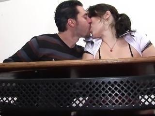 Hot schoolgirl blowjobs in toilet Anal deep on classroom A75