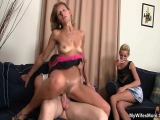 She sees her man fucking her