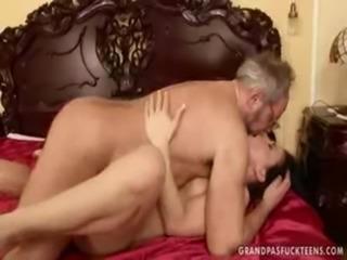Grandpa fucking & kissing Young ... free