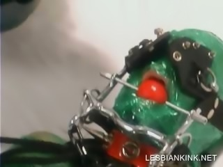 Lesbo BDSM action with slave and mistress