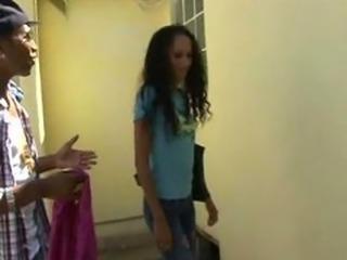 Ebony Teen gets fucked in the ass