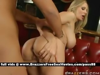 Adorable naked blonde slut on a couch gets a blowjob