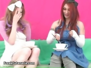 Hot brunette girls get horny jerking