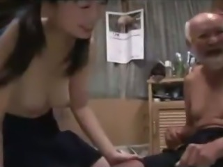Schoolgirl In Skirt Getting Her Hairy Pussy Fucked By Old Man Creampie On The...