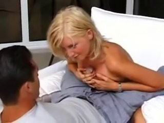 Pretty blond tit and ass fucked