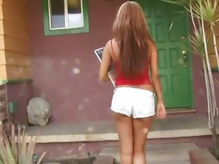 Hot teen girl from the hood takes a cock