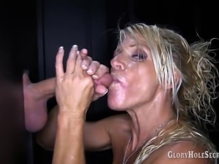 Glory Hole Secrets Gina sucks and swallows 7 strangers loads