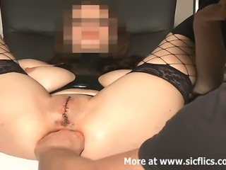 Extreme amateur babe has her pussy sewn shut and rendered useless whilst...