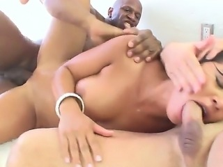 The hottest interracial oral scene from the gigantic fucker John Strong that...