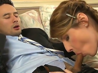 Cock hungry tranny Amy Daly gives memorable wet blowjob to turned on Gabriel...
