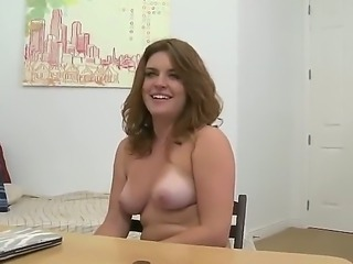 Seductive blonde angel slowly strips for