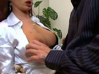 Cindy Dollar is exciting secretary with perfect tits and accurate pussy! Her...