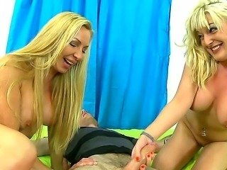 Lisa DeMarco and Tristyn Kennedy make a slutty family! These luscious blondes...