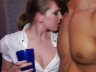Sexy real amateurs at party fucked