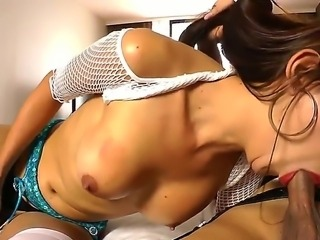 Namtan and Pop in sexy and wild shemale with hot babe real sex session