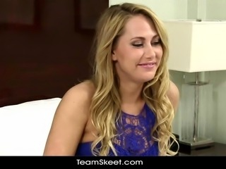TeensDoPorn sexy ass blonde babe first time porn casting