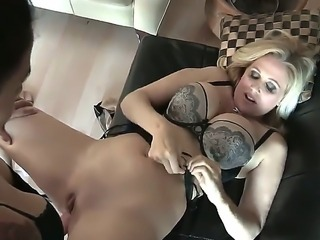 Dreamy Dana and Julia share a kinky and steamy lesbian moment together while...