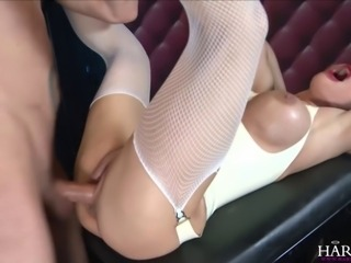Blonde honey Cathy heaven teases and sucks on her sex slave's meat before...