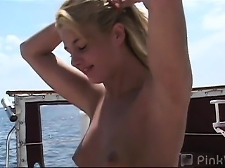 The only thing Randi loves more than boat rides is having a big cock...