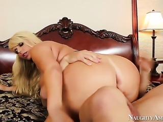 Johnny Castle makes his rock solid cock disappear in breathtakingly hot Karen...