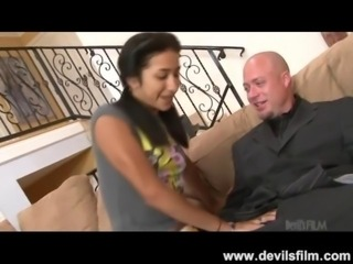Tiny Teen Babysitter Squirts While Getting Pussy Pounded