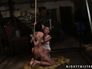 Blonde spends her sexual energy with lesbian Kathia Nobili
