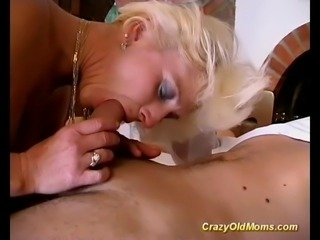 This german mature babe is deeply and roughly ass fucked by young stud juts...